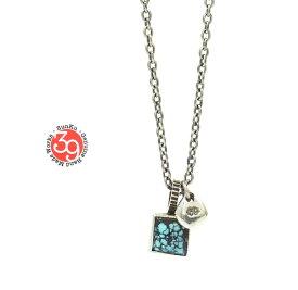 Sunku 39 サンク SK-182 Square Turquoise Necklace Silver シルバー シンプル ネイティブ ターコイズ ネックレス メンズ レディース ペア