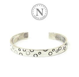 ノースワークス NORTH WORKS W-218 Dot Stamped bangle Silver シルバー ドット バングル