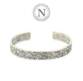 ノースワークス NORTH WORKS W-219 Stamped bangle Silver シルバー ペイズリー バングル