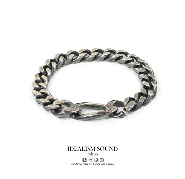 【idealism sound】 イデアリズムサウンド idealismsound No.16020 Link chain bracelet silver シルバー チェーン ブレスレット メンズ レディース