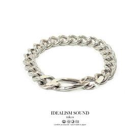 【idealism sound】 イデアリズムサウンド idealismsound No.16021 Link chain bracelet silver シルバー チェーン ブレスレット メンズ レディース