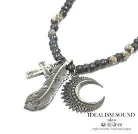 【idealism sound】 イデアリズムサウンド idealismsound No.12055 Silver Necklaceシルバー クロス 三日月 ネックレス メンズ レディース 【あす楽対応】