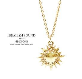 【idealism sound】 イデアリズムサウンド idealismsound No.11110 K10 Gold Necklace10金 ゴールド 太陽 ネックレス メンズ レディース