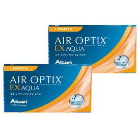 エアオプティクスEXアクア (3枚)2箱セット 【定形外郵便送料無料】(エアオプティクス EXアクア アルコン 1ヶ月)--