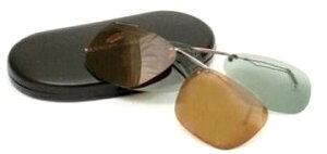 クリップオンサングラス 偏光レンズ メガネに取り付けるサングラス