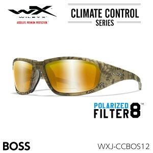 ワイリーエックス ボス サングラス 偏光 WXJ-CCBOS12 フィルターエイト ベニス ゴールドミラー クリプテック ハイランダー