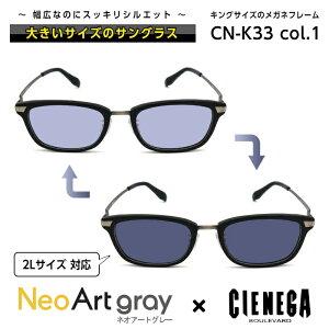 大きいサイズ サングラス 調光 ネオコントラスト シェネガ CIENEGA CN-K33 C-1 メンズ 男性 ビジネス カジュアル ウェリントン