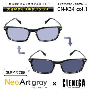 大きいサイズ サングラス 調光 ネオコントラスト シェネガ CIENEGA CN-K34 C-1 メンズ 男性 ビジネス カジュアル ウェリントン