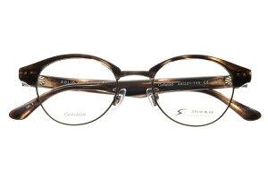ソリッドブルー SOLID BLUE S-199 全色 セル メタル メガネ フレーム 眼鏡 めがね 日本製 国産 鯖江 丸 ボストン 軽い 軽量 男 メンズ セルロイド チタン 【送料無料】おしゃれ クラシック