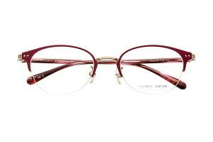 ハスキーノイズ HUSKY NOISE H-175 全色 メガネ フレーム 眼鏡 めがね 鯖江 日本製 国産 女性 軽い 軽量 メタル チタン セル ハーフリム ナイロール 丸い きれい おしゃれ かわいい 【送料無料】