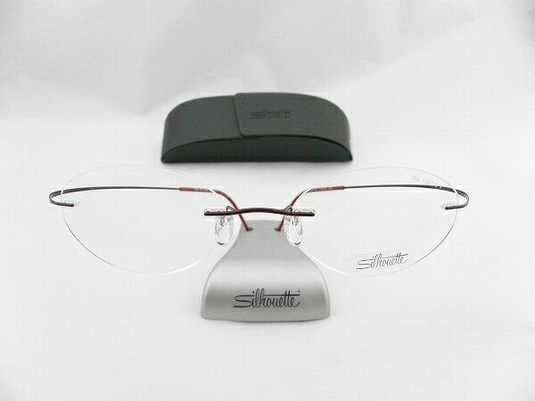 【レンズセット】[Silhouette] シルエット メガネフレーム 6668-42-6066 レッド レンズ付き お買得 レンズセット 伊達メガネ メガネフレーム めがね