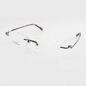 【レンズセット】レンズセット [ノベルティ] 7944B-IPBK メガネフレーム メガネ お買得 セット商品 スマート シャープ 知的 新品 ふちなし 眼鏡 めがね チタン 軽量 スリムツーポ 正規品
