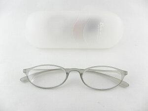 [BelleetClaire 老眼鏡] ベルエクレール 老眼鏡 92341-フィッツ-グレー+1.00 新品 めがね メガネ ケース付 贈り物 レディース 灰 正規品