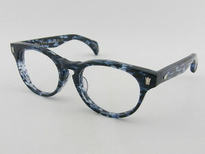 [tsetse×甚六作] TCL-SP2-6 メガネフレーム ブルー 青 ボストン ツェツェ 昭和 高級感 伊達メガネ 度付き可 新品 眼鏡 レトロ めがね 男女兼用 クラシカル 正規品