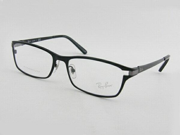 レイバン 眼鏡 RX8727D 1074 メガネフレーム ブラック スマート メンズ 紳士 伊達 スクエア 細身 新品 めがね 軽量 チタン 度付可 ビジネス RayBan Ray-Ban 国内正規品 メーカー保証書付き 送料無料