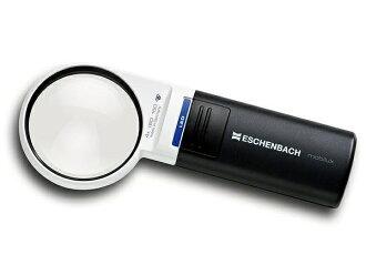 [艾森巴赫] 艾森巴赫 1511年 41 LED 寬燈放大鏡放大鏡 4 x 60 毫米輪輪報紙放大鏡禮物老年非球面移動放大鏡閱讀真正的 P27Mar15 的全新真正的 LED 燈