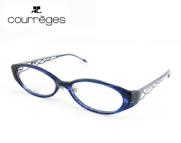 【700円OFFクーポン配布中!】【レンズセット】【在庫処分価格】■レンズセット■ [courreges] クレージュ メガネ 6024-1 ブルー キレイ 薄型度付レンズ付 シンプル ダテメガネ 新品 お買得 セット 眼鏡 レディース CUTE 正規品