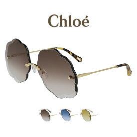 【送料無料】【あす楽対応】Chloe クロエ サングラス CE156S レディース ラウンド フレームレス グラデーション 国内正規品 ゴールド 女性用 UVカット 紫外線カット