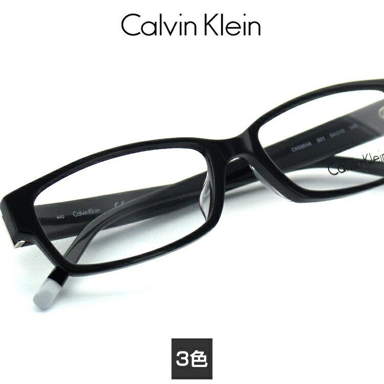 【送料無料】【国内正規品】カルバンクライン メガネフレーム CK-6004A 54サイズ スクエア ユニセックス 男女兼用 Calvin Klein 眼鏡フレーム めがねフレーム 度付き対応可【0524CK】