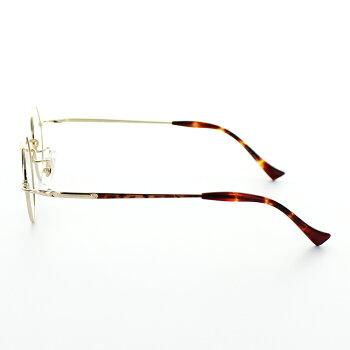 【送料無料】【国内正規品】[JOHNLENNON]ジョンレノンメガネJL101342サイズ丸メガネレトロ日本製ラウンドべっこうブラウンチタン製デミ調眼鏡めがねクラシカルゴールド専用ケース