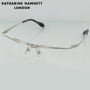 【送料無料】【日本製】キャサリンハムネット 跳ね上げ式 チタン メガネフレーム KH9134 1 56サイズ スクエア シルバー メンズ 男性用 KATHARINE HAMNETT 眼鏡 めがね 度入り可 【国内正規品】