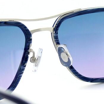キャサリンハムネットサングラスKH92658サイズスクエアネイビーマットシルバーメンズ男性用KATHARINEHAMNETT紫外線防止UVカット紫外線予防