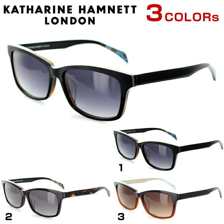 キャサリンハムネット サングラス KH931 59サイズ スクエア マットブラック ブラック ユニセックス 男女兼用 KATHARINE HAMNETT UVカット