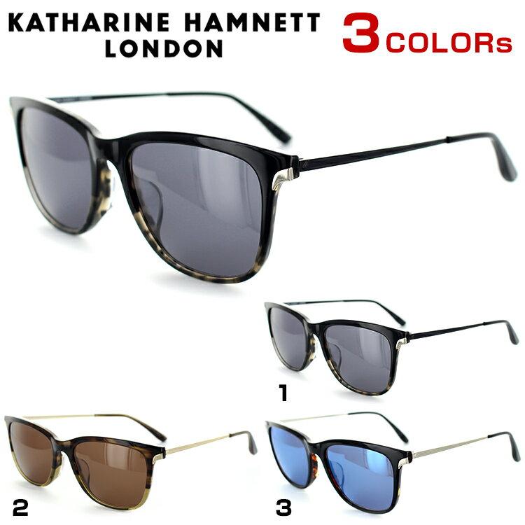 キャサリンハムネット サングラス KH943 55サイズ スクエア ブラック マーブル ユニセックス 男女兼用 KATHARINE HAMNETT UVカット