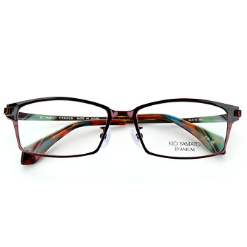 【送料無料】【日本製】キオヤマトチタンメガネフレームKT-469J54サイズスクエアネイビーマットシルバーユニセックス男女兼用KIOYAMATO眼鏡フレームめがねフレーム度付き対応可