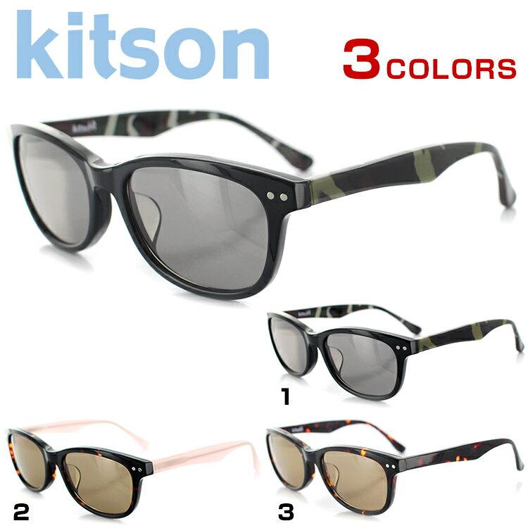 キットソン サングラス KIT-503 53サイズ オーバル ブラック レディース 女性用 kitson UVカット UV予防 紫外線カット 紫外線予防【国内正規品】