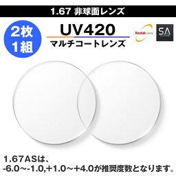 [SA展望]1.67單面非球形UV420多重大衣]