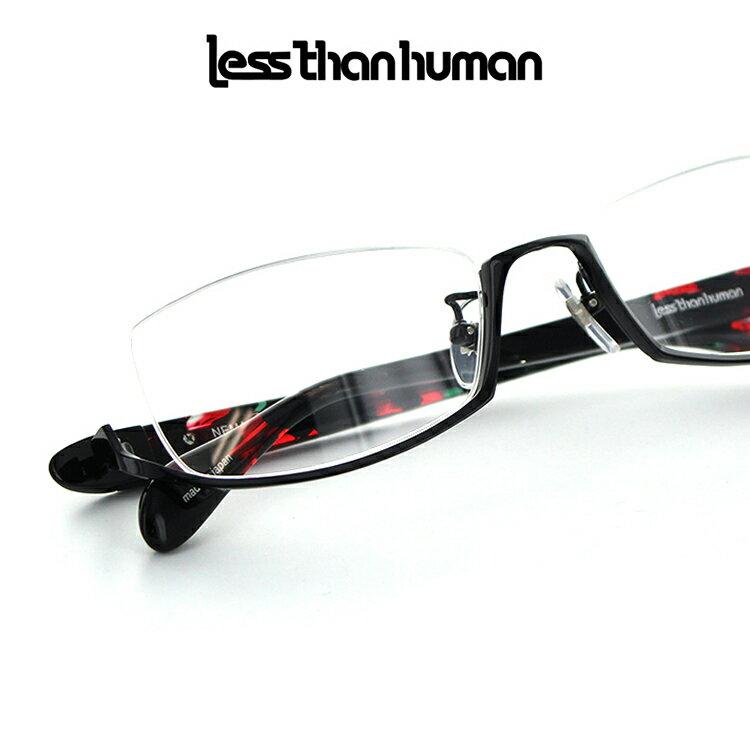 【送料無料】【国内正規品】【日本製】レスザンヒューマン メガネフレーム NEMA 54サイズ スクエア メンズ 男性用 less than human 眼鏡フレーム めがねフレーム 度付き対応可