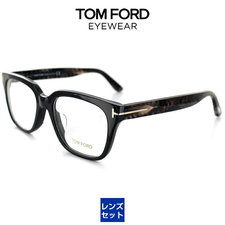 トムフォード メガネ フレーム FT5477F UV420 レンズ付 020 53サイズ グレー アジアンフィット ウェリントン ASIAN FITTING TOM FORD【正規販売店】