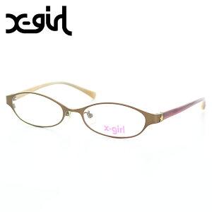 【正規品】X-girl parakeet メガネフレーム XM-11 2 51サイズ メタルブラウン エックスガール Xガール 眼鏡フレーム めがねフレーム