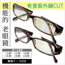 【セール特価】送料無料 老眼鏡 デザインシニアグラス M1003 全2色