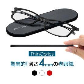 THINOPTICS シン・オプティクス ブルックリン コンパクトグラス 送料無料 老眼鏡 老眼鏡に見えないメガネ おしゃれ 男性用 女性用