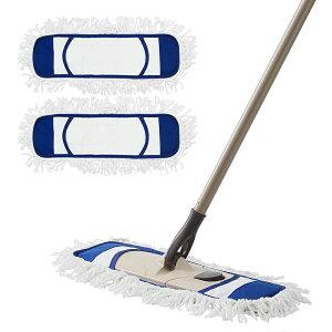 【送料無料】 Eyliden モップ フロアモップ 綿系 クロス 2枚セット 取替用 フローリング 床 掃除 モップ ベーシック 乾拭き 水拭き 長さ調節 約113cm~140cm