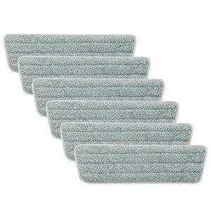 【送料無料】 Eyliden 取替えクロス 交換パッド ぞうきん マイクロファイバー クロス モップ モップ用スペア 6枚セット 取替 掃除 パッド 雑巾 モップ 床を保護 乾湿両用