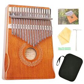【送料無料】 高品質の17鍵カリンバ 親指ピアノ Kalimba 17音の指ピアノ ハンマー スタディガイド 高級保護ケース付き ウッド17音-稲穂