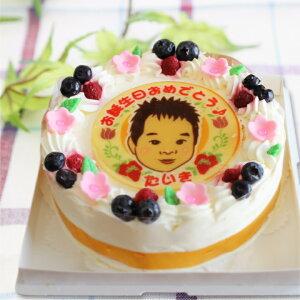 似顔絵ケーキ 丸型6号18cm(6〜8名様) 【誕生日ケーキ】【10P01Feb14】