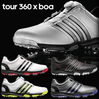 2015型号阿迪达斯高尔夫球日本正规的物品tour360×BOA(旅游360毛皮围巾)软件钉鞋高尔夫球鞋