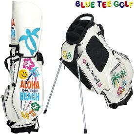 BLUE TEE GOLF(ブルーティーゴルフ)日本正規品 ALOHA ON THE BEACH(アロハオンザビーチ) スタンドキャディーバッグ 「CB-011」