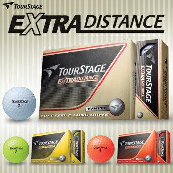 ブリヂストン日本正規品ツアーステージEXTRA DISTANCEエクストラディスタンスゴルフボール1ダース(12個入)【あす楽対応】