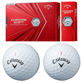 Callaway(キャロウェイ)日本正規品 CHROME SOFT(クロムソフト) 2020モデル ゴルフボール1ダース(12個入) 【あす楽対応】