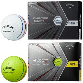 Callaway(キャロウェイ)日本正規品 CHROME SOFT X TRIPLE TRACK(クロムソフトエックストリプルトラック) 2020モデル ゴルフボール1ダース(12個入) 【あす楽対応】