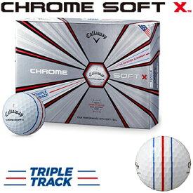 【トリプル・トラック】 Callaway(キャロウェイ)日本正規品 CHROME SOFT X(クロムソフトエックス) 2019新製品 ゴルフボール1ダース(12個入)【あす楽対応】
