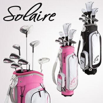 キャロウェイ日本正規品Solaire(ソレイル)レディース8本セット(ドライバー、FW#5、6H、I#7、#9、PW、SW、パター)+キャディバッグ付