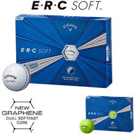 Callaway(キャロウェイ)日本正規品 ERC SOFT(イーアールシーソフト) TRIPLE TRACK 2019モデル ゴルフボール1ダース(12個入) 【あす楽対応】