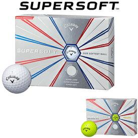 Callaway(キャロウェイ)日本正規品 SUPER SOFT(スーパーソフト) 2019新製品 ゴルフボール1ダース(12個入)【あす楽対応】