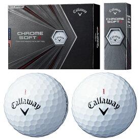 Callaway(キャロウェイ)日本正規品 CHROME SOFT X (クロムソフトエックス) 2020モデル ゴルフボール1ダース(12個入) 【あす楽対応】